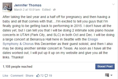 FB concert announcement