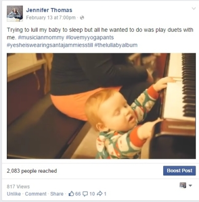 FB video of baby